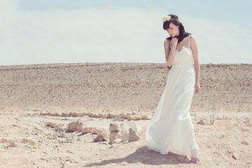 שמלת כלה ואקססוריז לחתונה בטבע